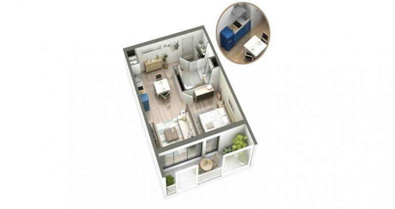 """Achat / Vente appartement neuf Bordeaux à deux pas du tramway C """"Grand Parc"""" (33000) - Réf. 4960"""